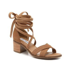 Steve Madden tan Kanzley lace up chunky sandals